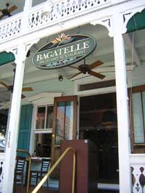 Bagatelle Restaurant overlooking Duval Street in the 100 block.