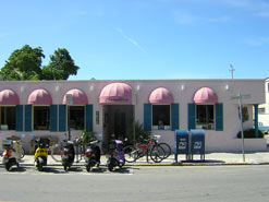 Camille's pink awnings mark this favorite Simonton Street restaurant.