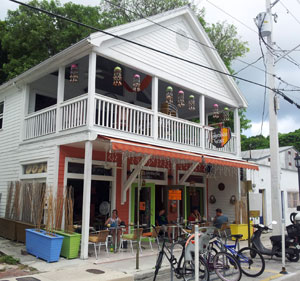 Colombian Grace restaurant fronts Petronia Street in Bahama Village.
