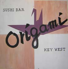 Origami, one of the top two sushi restaurants in Key West.