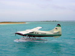 Seaplane flights to the Dry Tortugas fly over and visit the most beautiful out-islands of the Keys.