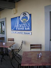 Alonzo's on the docks below A & B Lobster Hosue