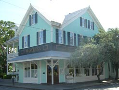 Cafe Marquesa restaurant in a historic wood building in Key West