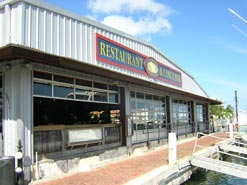 Dock side restaurant Conch Republic Seafood Company in Key West