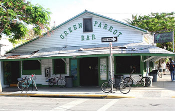 The famous Green Parrot bar on the corner of Whitehead St and Southard St