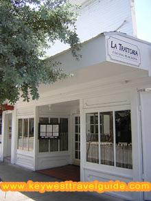 On Duval Street, the classic italian restaurant La Trattoria