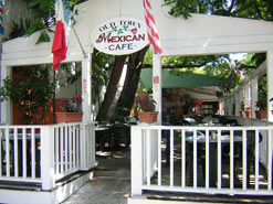 Front of Old Town Mexican Cafe in Key west