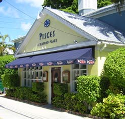 Pisces on Simonton Street - one of Key West's finest seafood restaurants.