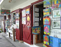 Affordable, island-inspired art can be found at Red Door Gallery on Caroline Street.