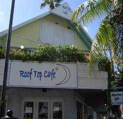 Above the fray of the cruise ship district, the Rooftop Cafe does a nice job of serving island cuisine and classics.