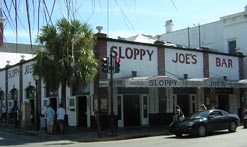 The famous Sloppy Joe's Bar in Key West, where Hemingway drank and caroused.