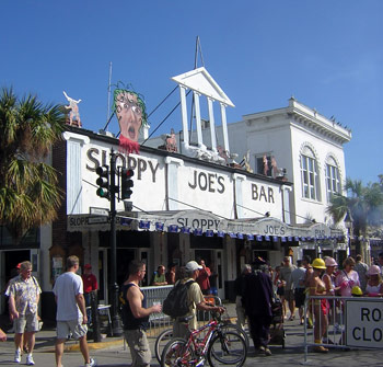 Sloppy Joe's on Duval Street  during the Fantasy Fest week.