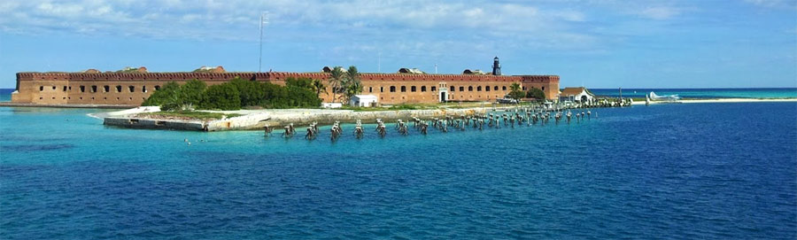 View of Fort Jefferson at the Dry Tortugas National Park