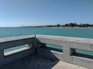 From the White Street Pier, looking towards Fort Zachary Taylor State Park
