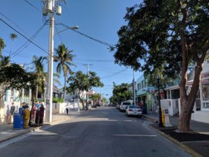 Near the top of Duval Street, with Atlantic Ocean almost in view