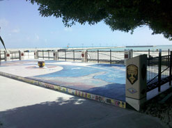 Overlooking the south shore and next to the White Street pier is the African Cemetery at Higgs Beach.