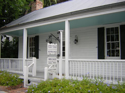 The gift shop of the Audubon House museum