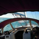 View from cockpit while sailing