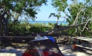 Tent campsite at the Dry Tortugas