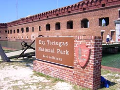 Dry Tortugas National Park sign at Fort Jefferson
