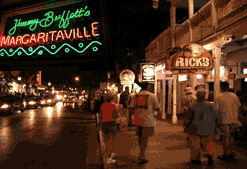 Bars on Duval Street in Key West