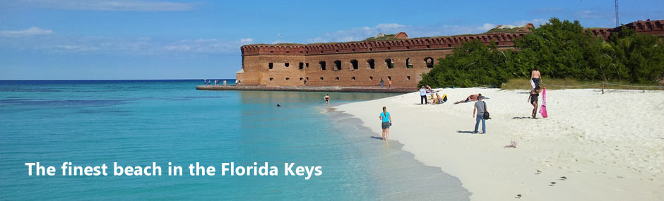 Fort Jefferson and the magnificent soft sand beach