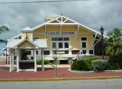The historic Flagler Station building, where the train arrived in Key West