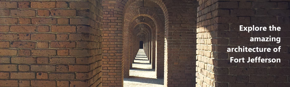 Archways of the brick fort provide dramatic photographs