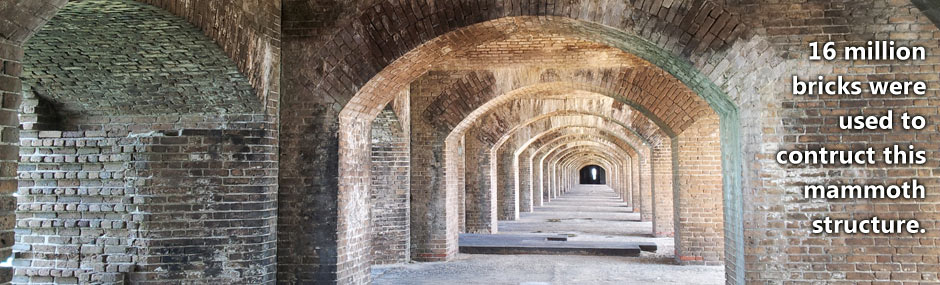 Amazing architecture of Fort Jefferson, constructed with 16 million bricks