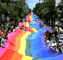 The pride flag unfurled the length of Duval Street, from the Atlantic Ocean to the Gulf of Mexico