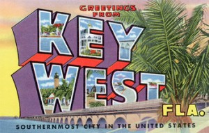 Vintage postcard image - Greetings from Key West