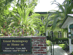 Front entrance of the former home of Ernest Hemingway, the author