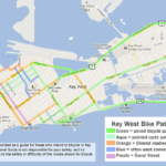 Bike routes map