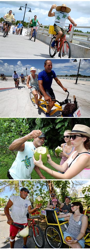 Scenes from the Key West bike tour