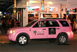 Pink taxi cab in Key West