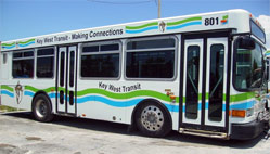 Key West city buses are air-conditioned, accessible, and can even carry a few bikes.
