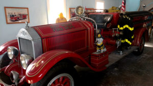 Historic fire engine on display at the Firehouse Museum