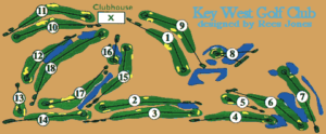 Map of Key West golf course