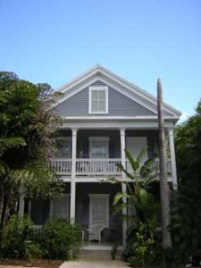 Historic wooden Key West house