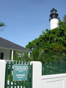 The Key West lighthouse and keeper's quarters