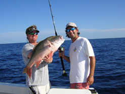Large mutton snapper caught on a fishing charter in Key West