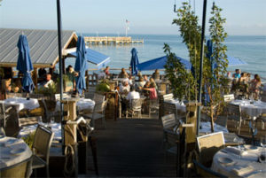 The afterdeck at Louie's Backyard, a seaside restaurant and bar