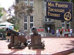Cannons outside the Mel Fisher Maritime Museum