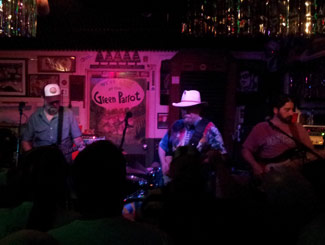 New Riders of the Purple Sage playing at the Green Parrot to a packed house.