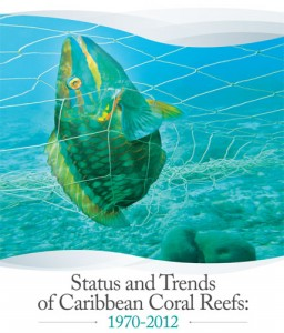 Cover of report Status and Trends of Caribbean Coral Reefs 1970-2012