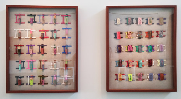 Harnesses used by artist to fly cigars from Cuba to Key West on the backs of homing pigeons