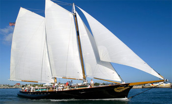 The magnificent Schooner America, under full sail