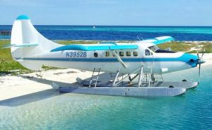 Seaplane to the Dry Tortugas, at rest on the beach