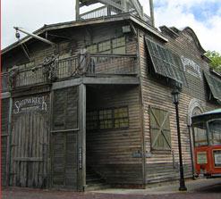 Clapboard building of the Shipreck Historium