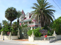 The colorful and ornate Southernmost House on upper Duval Street